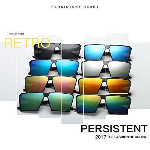 Gafas de Rubber sol calidad Matte Mode de gafas retro sol nbsp;reflectantes de Unisex polarizadas para sol for Gafas hombre y alta renden espejo Retro Vintage efecto 6 Espejo gafas nerd mujer diseño UV400 gqXwS