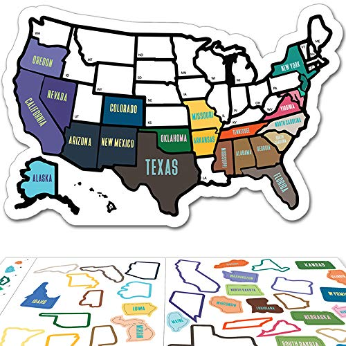 Custom Magnetic Decals - RV State Sticker Travel Map - 11
