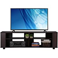 go2buy 58 Wood TV Stand Media Console Cabinet Home Entertainment Center Table for Flat Screen TVs , Espresso