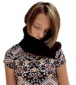 Neck Scarf Travel Pillow Black Color, Ergonomic Comfort, Machine Washable, Soothing Neck Support