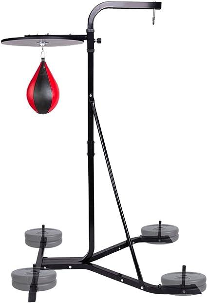 CCLIFE Box-Station freistehender Boxstand Boxsack Halterung Punchingball Stand 4-Fach verstellbar