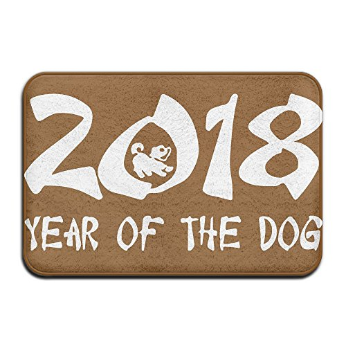 Year Of The Dog 2018-1 Indoor Outdoor Entrance Rug Non Slip Bath Mat Doormat Rugs For - New York Mall Woodbury