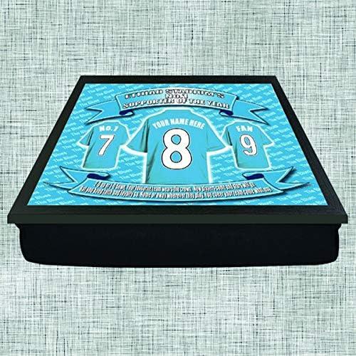 Manchester City Football Shirt Personalised Lap Tray Gift