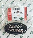 LAND ROVER DEFENDER FRONT KBX GRILLE BADGE BLACK ON SILVER PART# DAH500330
