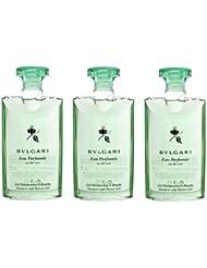 Bvlgari au the vert (green tea) Shower Gel 2.5oz Set of 3