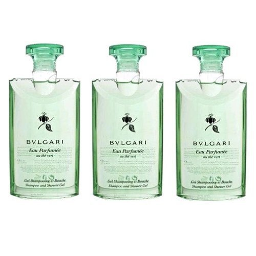Bvlgari au the vert (green tea) Shower Gel 2.5oz Set of (Bvlgari Eau Parfumee Au The Vert)