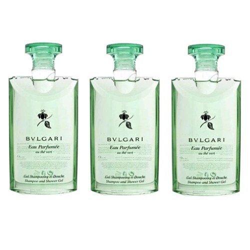 Bvlgari au the vert (green tea) Shower Gel 2.5oz Set of - Silver Bvlgari
