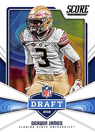 2fa6e6b6b 2018 Score NFL Draft  12 Derwin James Florida State Seminoles Football Card