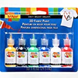 Arts & Crafts : SCRIBBLES 18534 Dimensional Fabric Paint, Shiny, 6-Pack