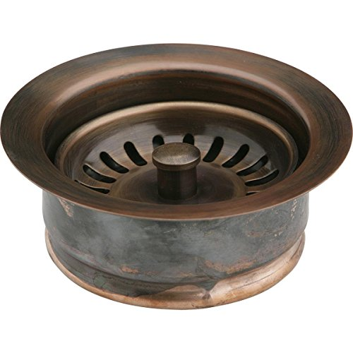 Elkay LKD35AC Antique Copper Disposer Flange Fitting with Removable Basket Strainer and Rubber Stopper