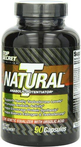 Top Secret Nutrition T Natural - Essai Booster Capsules, 90 comte