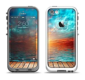 The Paradise Sunset Ocean Dock Skin Set for the Apple iPhone 5-5s LifeProof Fre Case (Skin Only)