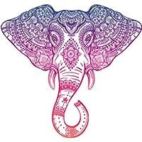 Divine Designs Purple Pink Ombre Henna Pattern Elephant Head Drawing Vinyl Decal Sticker