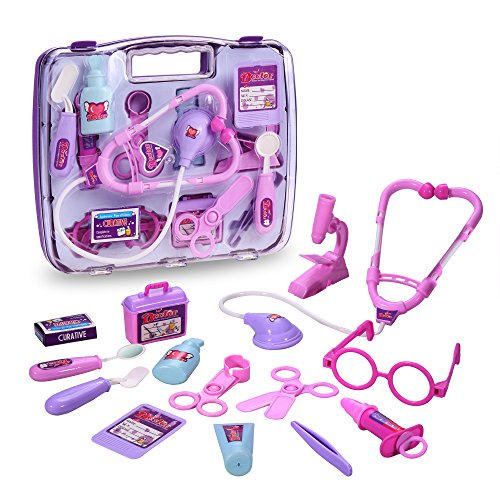 [eshion Children Educational Toys Kit Doctor Nurse Medical Kit Pretend Play Set Toy (Purple)] (Doctor Costumes For Toddlers)