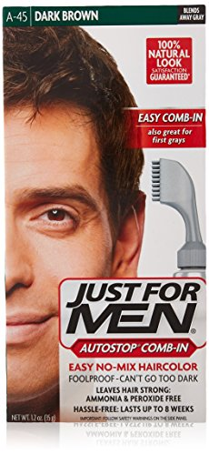 Just For Men Autostop Men's Hair Color, Dark Brown, 2.4 Ounc