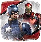 17'' Captain America Civil War Foil Balloons - Pack of 5