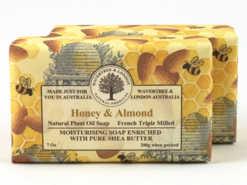 Wavertree & London Natural Plant Oil French Triple Milled Moisturizing Soap with Pure Shea Butter 7 oz each Honey & Almond (2-Pack) Review