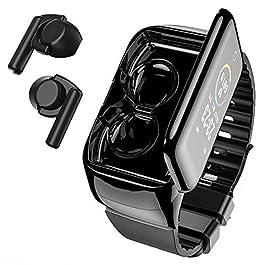 Smart Watch with Bluebooth Earbuds,Wireless Earphones Fitness Tracker Watch 2 in 1,Activity Bracelet with TWS Sleep…