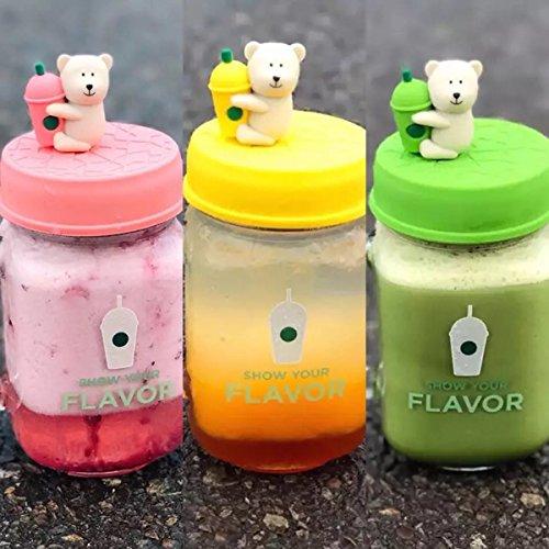 海外スターバックス 3色セットベアリスタ 熊 メイソンジャー 瓶 マグカップ ガラス タンブラー 耐熱 韓国 台湾 ガラスボトル くま