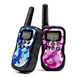 Veroyi Walkie Talkie for Kids, Boys and Girls, 22 Channels 2 Way Radio Toys with Backlit LCD Display and Flashlight for Indoor Outdoor Activity (2-Pack)