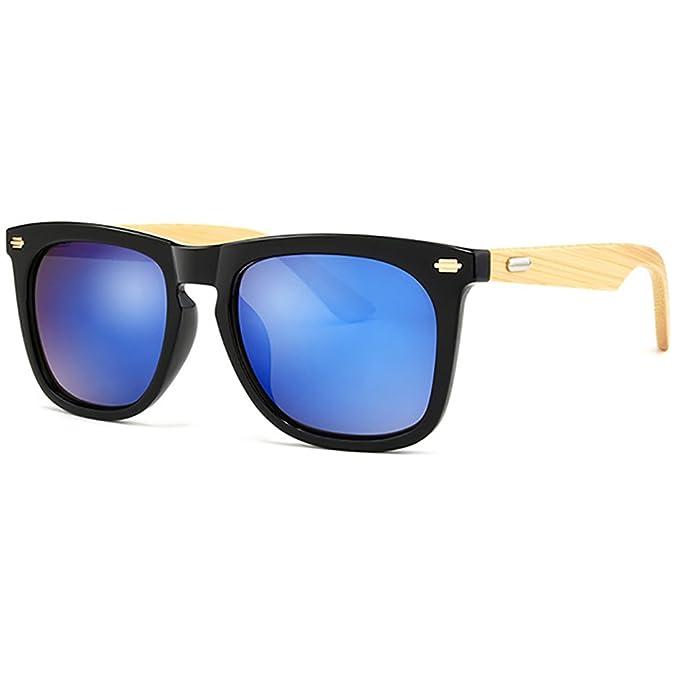 Gafas de sol polarizadas de bambú Marco de madera Gafas de sol vintage artesanal ligera para