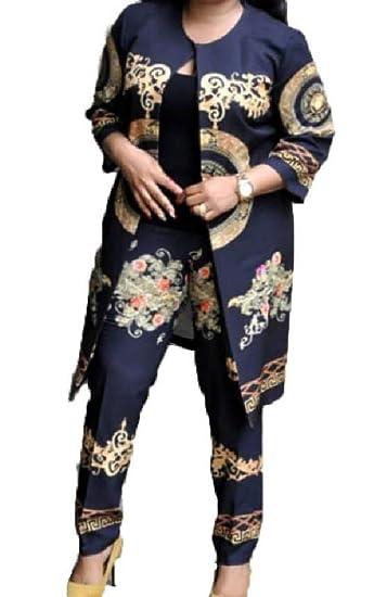 VITryst Maxi Fashion Traje de Dos Piezas con Estampado Floral ...