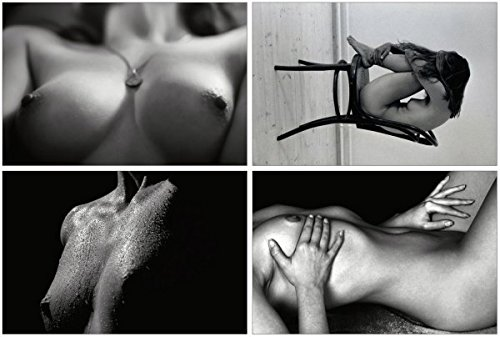 Erotic Postcards - Set of 10 beautiful black and white postcards showing female nude photographs (Nude Female Photograph)