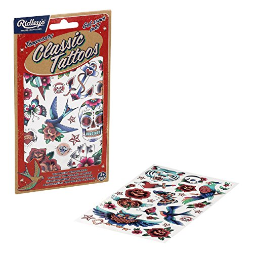 American Classic Rose - Temporary Classic Tattoos - American Traditional Set