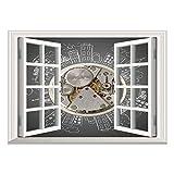 Best Knight Alarm Clocks - SCOCICI Window Mural Wall Sticker/Clock Decor,an Alarm Clock Review