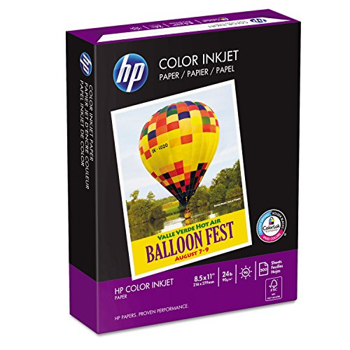 HP 202000 Color Inkjet Paper, 8-1/2 x 11, 500 Sheets/Ream