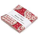 Moda French General Joyeux Noel Charm Pack, 42 5-inch Cotton Fabric Squares