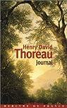 Journal, 1837-1852 par Thoreau