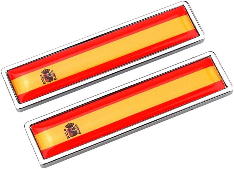 AzuNaisi 1pair la Bandera Nacional del Metal Etiquetas Multi usos Pegatina de la Bandera Chrome Adhesivos Creativas Emblema de la Bandera Etiquetas (España): Amazon.es: Coche y moto