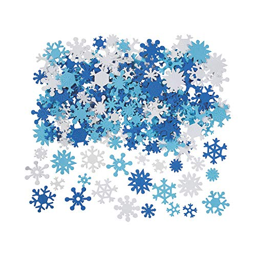 Fun Express 400 Foam Snowflakes Craft Projects ()