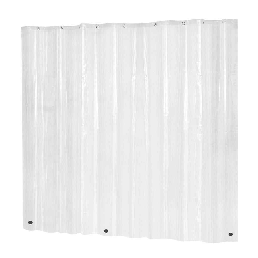Eco-Friendly Mildew Resistant Anti-Bacterial PEVA Shower Curtain Liner Clear 72x72inch Clear