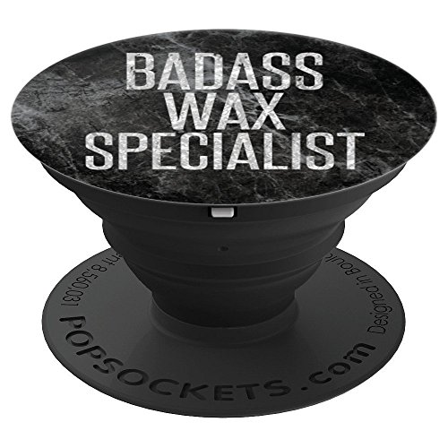 (Gift for Waxer Salon and Spa Wax Specialist Glam Faux Silver - PopSockets Grip and Stand for Phones and Tablets)