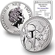 2020 NZ Niue 1 oz Silver Disney Star Wars Boba Fett Coin Brilliant Uncirculated w/Certificate of Authenticity