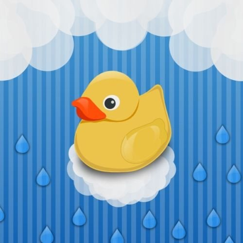 CAKEUSA RUBBER DUCKIES Duck First Baby Shower Birthday Cake Topper Edible Image 1/4 Sheet (Ducky Birthday Cake)