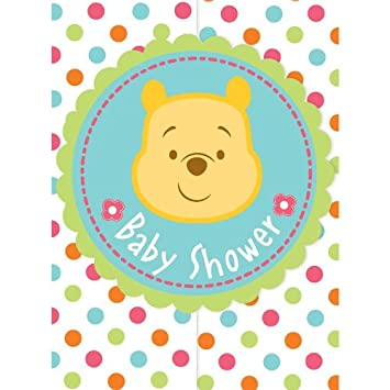 Marvelous Winnie The Pooh Baby Shower Invitations (8) Invites Cards Disney