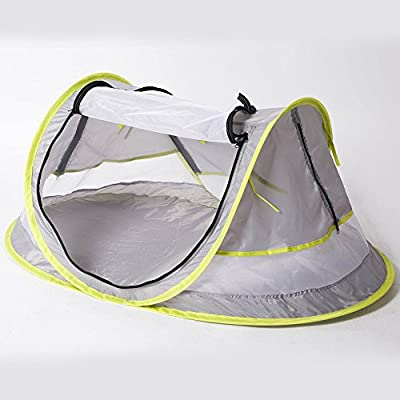 Hoomall Portable Baby Tent Beach Tent Travel Bed UPF 50+ Sun Shelters for Infant Toddlers Pop up Mosquito Net with 2 Pegs Sunshade Ultralight Weight