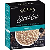 Better Oats Steel Cut Oats with Flax Classic 10 Pouches 11.6 oz (Pack of 2) offers