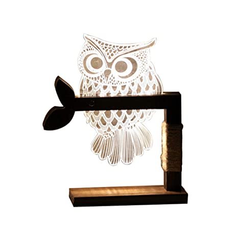 Pezzo Da Tavolo Notturna Luce Creativa Lampada A 1 3d m8nvN0w
