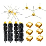 Gosear Cepillos Laterales + Filtro + cerdas batidoras Kit de reemplazo de escobillas Juego de Piezas para iRobot Roomba 700 Serie aspiradora Robots 760 770 780 790