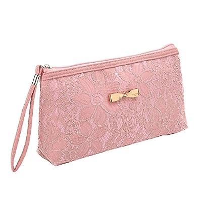 543b71ff2f14 85%OFF Vigourtrader Girls Lace Clutch Handbag Cosmetic Bag Makeup ...