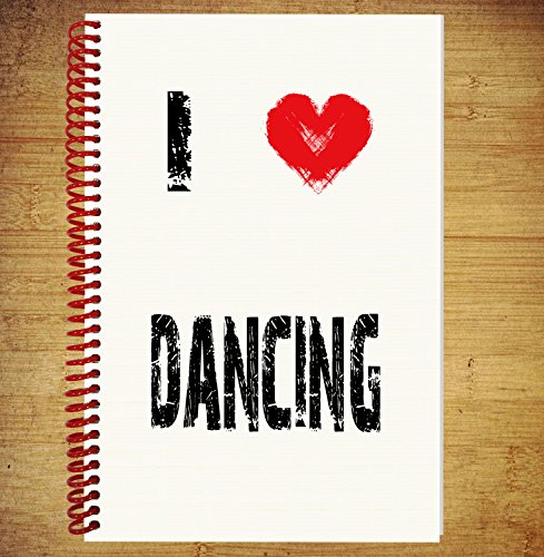 AKGifts A5 Notebook / Drawing Pad Diary Thoughts Ideas Plans - I Love Dancing (7 - 10 BUSINESS DAYS DELIVERY FROM UK) (Zumba Halloween Ideas)