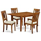 East West Furniture MLPL5-SBR-C 5-Piece Kitchen Table Set For Sale