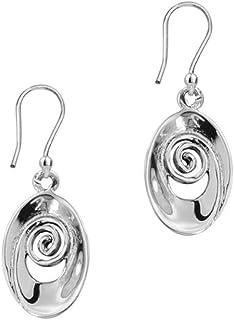 Boucles d'oreille en spirale celtiques traditionnelles «ISEABEAL» de style de baisse de conception d'argent sterling