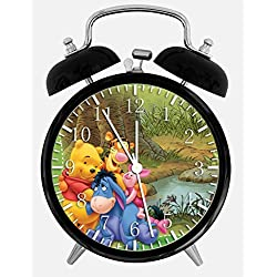 Winnie The Pooh Twin Bells Alarm Desk Clock 4 Home Office Decor X02 Nice for Gifts