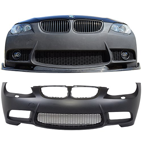Front Bumper Cover Fits 2007-2010 BMW E92 E93 | 3 Series M3 Style Front End Conversion Guard With Air Duct by IKON MOTORSPORTS | 2008 ()