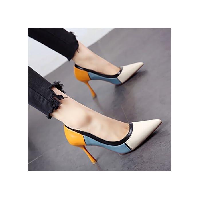 Ymfie Lo Stile Europeo Di Primavera Ed Estate A Colori Moda E Poco Profonde Punta Fine Ad Alta Scarpe Col Tacco Single Ladies' Sandali